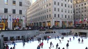 Centre de Rockefeller à New York City banque de vidéos
