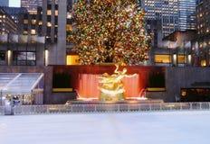 Centre de Rockefeller à Noël Images libres de droits