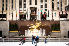 Centre de Rockefeller, Manhattan, NY Photographie stock libre de droits