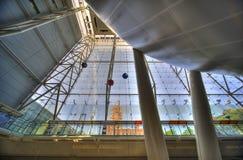 Centre de Rose pour la terre et l'espace Photo stock
