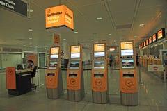 Centre de service de Lufthansa à l'aéroport international de Munich, GE Photos libres de droits