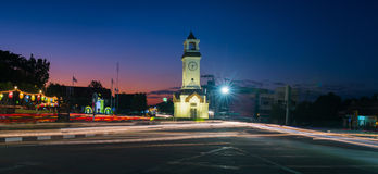 Centre de tour d'horloge, Lampang, Thaïlande Photos libres de droits