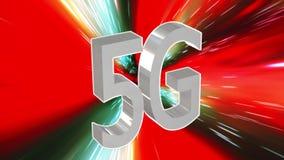 centre de traitement des données de connectivité de 5G LTE, serveur, Internet, vitesse, animation sans couture 4K du fond 3D de t illustration de vecteur
