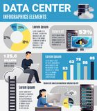 Centre de traitement des données Infographics Photo stock