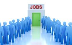 Centre de travail : Les gens recherchant un travail illustration libre de droits