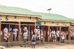 Centre de viande en Ouganda Images stock