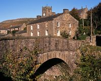 Centre de village, Muker, vallées de Yorkshire, R-U. Photos libres de droits