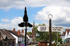 Centre de village, Weobley Images stock