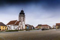 Centre de ville de Bechyne, République Tchèque image stock