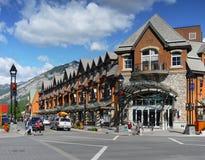 Centre de ville de Banff Photos stock