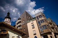 Centre de ville de Castelrotto ou de Kastelruth Photo libre de droits