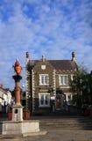 Centre de ville de Conwy images stock