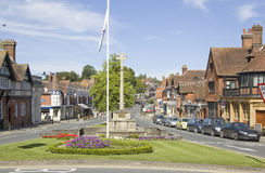 Centre de ville de Haslemere, Surrey Photo libre de droits