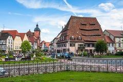 Centre de ville de Wissembourg près de Maison du Sel Photographie stock libre de droits