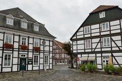 Centre de ville historique de Rietberg, Allemagne photographie stock