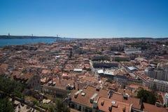 Centre de ville historique du centre de Lisbonne image stock
