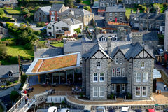 Centre de visiteur de Gallois avec le toit vivant Images libres de droits