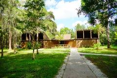 Centre de visiteur de parc de lac lettuce Photos libres de droits