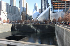Centre de World Trade Center et 9/11 New York commémoratif, Etats-Unis Photographie stock