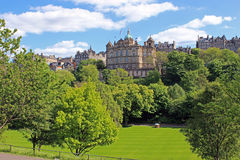 Centre of Edinburgh, Scotland. Gardens in the centre of Edinburgh, Scotland Royalty Free Stock Photo