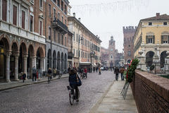 The centre of ferrara Stock Images
