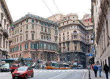 The centre of Genoa Stock Image