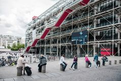Centre Georges Pompidou Paris France Royalty Free Stock Images