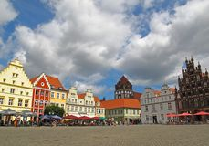 Centre of Greifswald Royalty Free Stock Photography