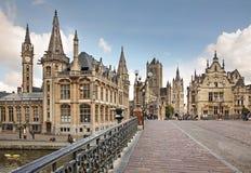 Centre historique à Gand flanders belgium images libres de droits