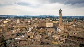 Centre historique de Sienne et de Piazza del Campo images libres de droits