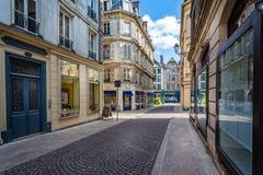 Centre historique de Troyes avec les bâtiments à colombage photo stock