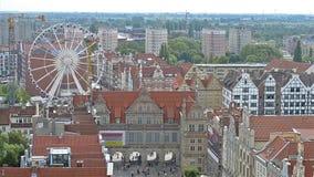 Centre historique de ville-port Danzig en Pologne clips vidéos