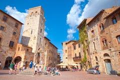 Centre historique du village médiéval de San Gimignano, Toscane Image libre de droits