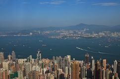 Centre of Hong Kong, view from Victoria Peak Royalty Free Stock Photos