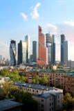 Centre international d'affaires de Moscou Images libres de droits