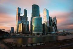 Centre international d'affaires de Moscou Photos stock