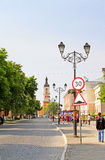 The centre of Kamianets-Podilskyi city in the morning, Ukraine Stock Photos