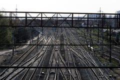 centre linii kolejowej ruch drogowy Fotografia Stock