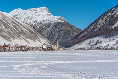 Centre of Livigno in Italy Stock Photography