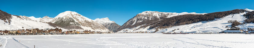 Centre of Livigno in Italy Royalty Free Stock Image
