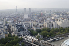 Centre of London from London Eye. UK Royalty Free Stock Images