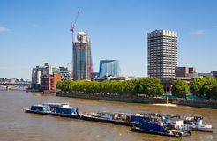 Centre of London view from the London bridge. Stock Photos
