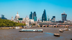 Centre of London view from the London bridge. Stock Photography