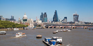 Centre of London view from the London bridge. Stock Image