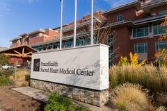 Centre médical sacré de coeur de PeaceHealth Photos stock