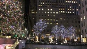 Centre Manhattan de patinage de glace Rockefeller clips vidéos