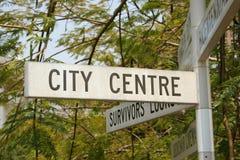 centre miasta znak Zdjęcia Royalty Free