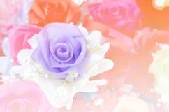 Centre mou de bouquet rose de tissu Photographie stock libre de droits