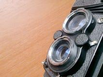 Centre mou de vintage retouchant de vieil appareil-photo dans le style de vie immobile Photographie stock