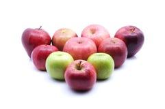 Centre mou du type multiple de pommes au-dessus du fond blanc Photos libres de droits